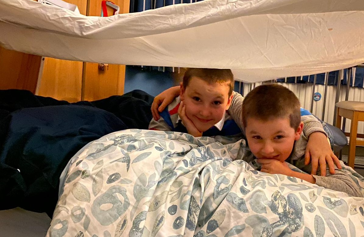 Cubs take part in Virtual Winter Sleepover